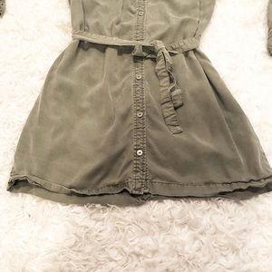 Sanctuary Dresses - Sanctuary Army Green Button Down Dress